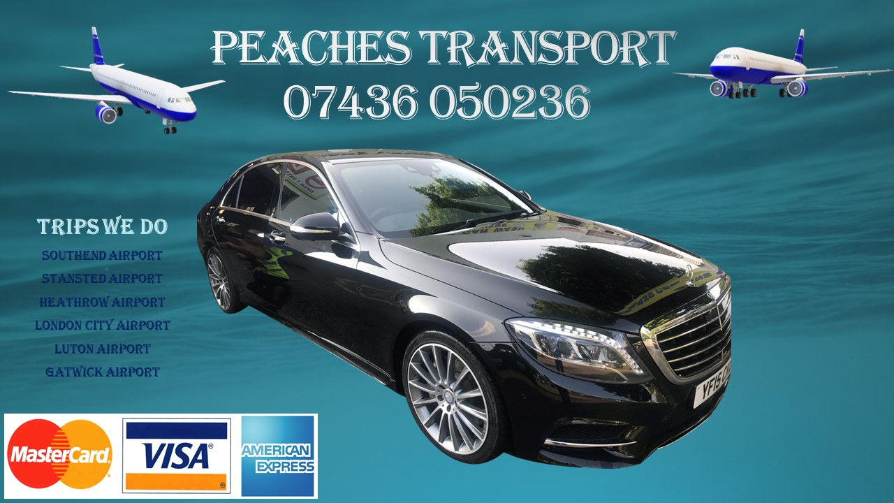 Peaches Transport Taxis at southend airport